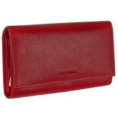 La Scala Fedeles, cipzáros aprós piros női bőr pénztárca La Scala