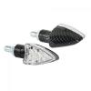 """Lampa Lampa """"Arrow"""" LED motorkerékpáros index párban - Karbon"""