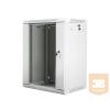 Lanberg 19'' fali rack szekrény 18U 600x450mm szürke (üvegajtó)
