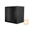 Lanberg 2 részes fali rackszekrény 19'' 12U/600x600mm fekete