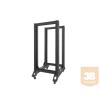 Lanberg nyitott rack keret 19'' 27U/600x800mm black