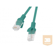 Lanberg Patchcord RJ45 cat. 5e UTP 15m green kábel és adapter