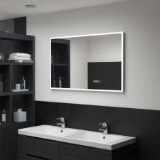 LED-es tükör érintésérzékelővel és időkijelzővel 100 x 60 cm bútor