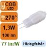 LED lámpa G4 (COB LED/1,3Watt/270°) hideg fehér
