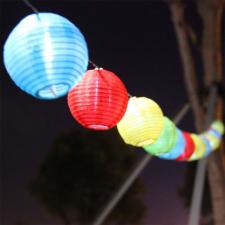 LED lampionfüzér, 10 db-os kültéri világítás