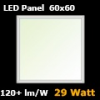LED panel (600 x 600 mm) 29 Watt - természetes f. (120+lm/W)