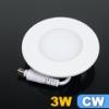 LED panel (85 mm) 3 Watt (kör) hideg fehér, süllyeszthető