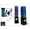 LED SOUND Univerzális hangszóró 3,5 mm jack csatlakozóval és vezetékkel - LED Sound Dancing Water - fekete