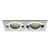 LEDvonal Beépíthető spot lámpatest , SEIDY CT-DTL250-AL , dupla keret , 2 x MR16 , mattkróm