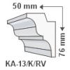 LEDvonal KA-13/K , Rejtett világítás díszléc , oldalfal