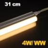 LEDvonal LED fénycső / T5 / 4W / 31 cm / sorolható / meleg fehér