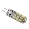LEDvonal LED lámpa , 12V DC , kukorica , G4 foglalat , 3 Watt , 360° , szilikon bevonat , hideg fehér