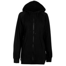 Lee Cooper kapucnis pulóver - Lee Cooper Longline Panelled Sweater Ladies Black
