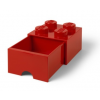 LEGO Fiókos tároló doboz 2x2 piros