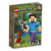 LEGO Minecraft BigFig Steve papagájjal 21148