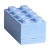 LEGO Mini tároló doboz 2x4 világoskék - 46x92x43mm