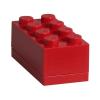 LEGO ® Seasonal Tároló mini doboz 4x2 piros - 46x92x43mm