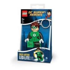 LEGO Zöld lámpás világító kulcstartó (LGL-KE66) kulcstartó