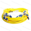 Legrand 032434 patch kábel optika OS2.HD: Fan-out/Fan-out 12xLC/12xLC duplex mikro kábel LSZH (LSOH) sárga 40 méter LCS3
