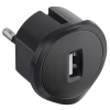 LEGRAND USB-s csatlakozó dugó 1,5A-5V fekete 050681