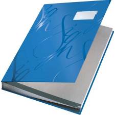 """Leitz Aláírókönyv, A4, 18 részes, karton,  """"Design"""", kék aláírókönyv"""