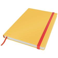 Leitz Beíró, B5, kockás, 80 lap, keményfedeles, LEITZ  Cosy Soft Touch , melegsárga füzet