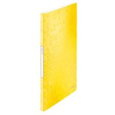 """Leitz Bemutatómappa, 20 zsebes, A4, LEITZ """"Wow"""", sárga mappa"""