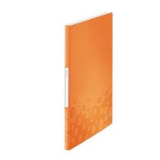 """Leitz Bemutatómappa, 20 zsebes, A4, LEITZ """"Wow"""", narancssárga irodai kellék"""