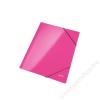 Leitz Gumis mappa, 15 mm, karton, A4, lakkfényű, LEITZ, rózsaszín (E39820023)