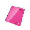"""Leitz Gumis mappa, 15 mm, karton, A4, lakkfényű,  """"Wow"""", rózsaszín"""