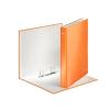 """Leitz Gyűrűs könyv, 2 gyűrű, D alakú, 40 mm, A4 Maxi, karton, lakkfényű,  """"Wow"""", narancssárga"""