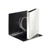 """Leitz Gyűrűs könyv, 4 gyűrű, D alakú, 40 mm, A4 Maxi, karton, lakkfényű, LEITZ """"Wow"""", fehér"""