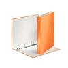 """Leitz Gyűrűs könyv, 4 gyűrű, D alakú, 40 mm, A4 Maxi, karton, lakkfényű,  """"Wow"""", narancssárga"""