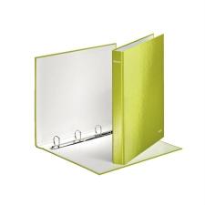 """Leitz Gyűrűs könyv, 4 gyűrű, D alakú, 40 mm, A4 Maxi, karton, lakkfényű,  """"Wow"""", zöld gyűrűskönyv"""