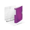 """Leitz Gyűrűs könyv, 4 gyűrű, D alakú, 52 mm, A4, PP, LEITZ """"Active Wow"""" lila"""