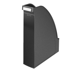 "Leitz Iratpapucs, műanyag, 70 mm,  ""Plus"", fekete irattartó"