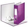 Leitz Iratrendező, 80 mm, A4, PP/karton, lakkfényű, LEITZ 180 Wow, lila (E10050062)
