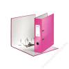 Leitz Iratrendező, 85 mm, A4, PP/PP, élvédő sínnel, lakkfényű, LEITZ 180, rózsaszín (E10050023)