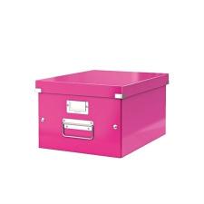 """Leitz Irattároló doboz, A4, LEITZ """"Click&Store"""", rózsaszín irattartó"""