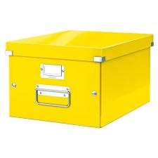 """Leitz Irattároló doboz, A4, LEITZ """"Click&Store"""", sárga irattartó"""