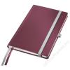 Leitz Jegyzetfüzet, A5, vonalas, 80 lap, keményfedeles, LEITZ Style, gránátvörös (E44850028)