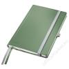 Leitz Jegyzetfüzet, A5, vonalas, 80 lap, keményfedeles, LEITZ Style, olajfazöld (E44850053)