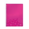 Leitz Spirálfüzet -46380023- wow A4 kockás Pink LEITZ