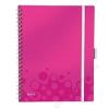 Leitz Spirálfüzet, A4, kockás, 80 lap, LEITZ Wow Active, rózsaszín (E46450023)