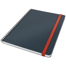 Leitz Spirálfüzet, B5, kockás, 80 lap, LEITZ,  Cosy Soft Touch , bársonyszürke füzet