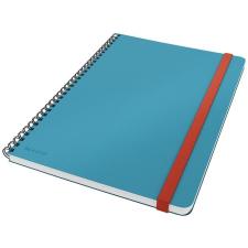 Leitz Spirálfüzet, B5, kockás, 80 lap, LEITZ,  Cosy Soft Touch , nyugodtkék füzet