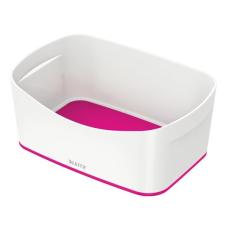 """Leitz Tároló doboz, LEITZ """"MyBox"""", fehér-rózsaszín irattartó"""