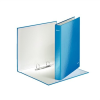 """Leitz """"Wow"""" A4 Maxi 40 mm D alakú 2 gyűrűs lakkfényű karton kék gyűrűskönyv"""