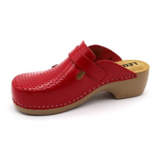 Leon Comfortstep PU 159 piros női bőr papucs 36-41