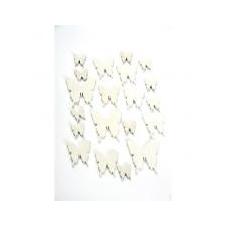 Levél fa 8x6x0,3 fehér S/10 dekoráció